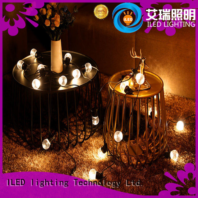 ILED warm commercial led string lights design for patio