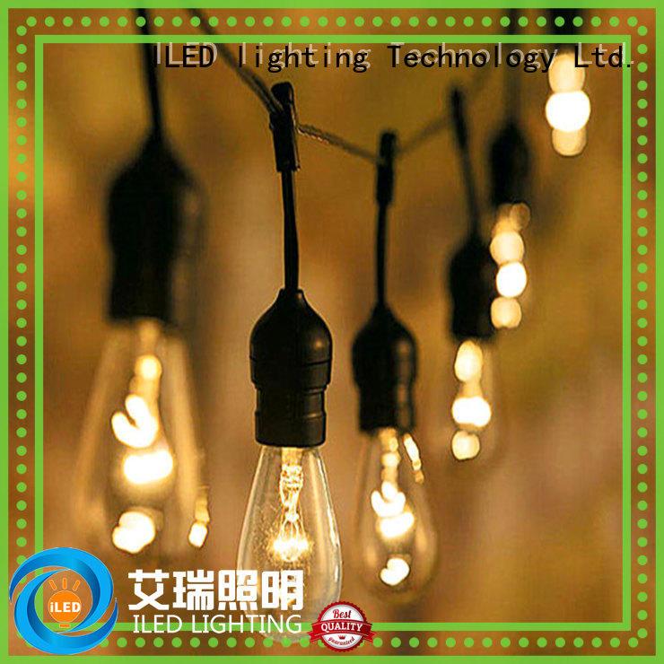 Commercial Festoon String Light 14.4M 110V JAN Plug Family Gathering Party Garden Outdoor Light