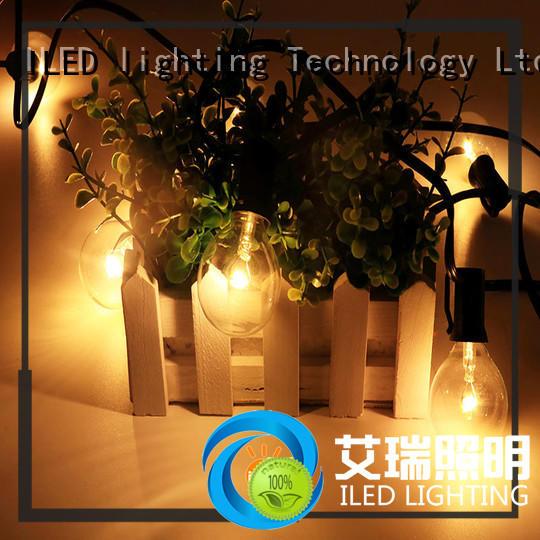 ILED standard festoon string lights supplier for outdoor