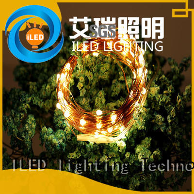 ILED starry copper wire lights battery operated customized for party