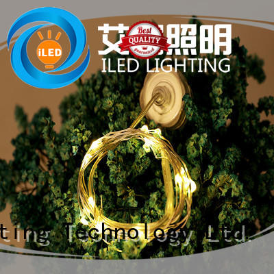 ILED starry battery operated outdoor christmas lights customized for Christmas