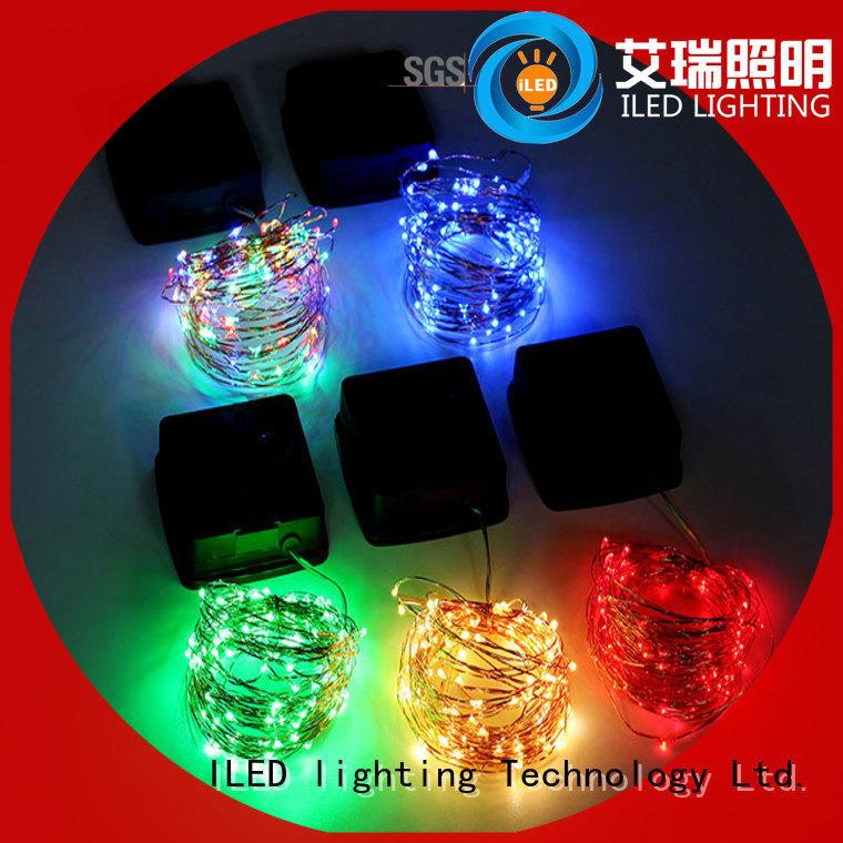 decorative solar copper string lights supplier for garden