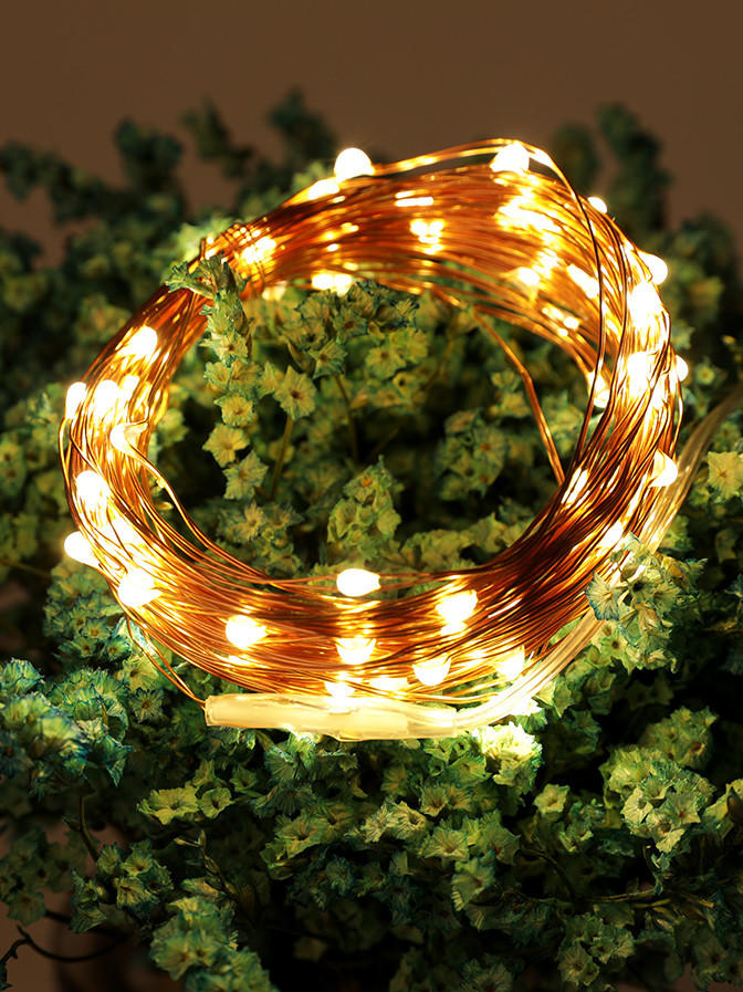 ILED remote battery operated copper string lights for indoor-3