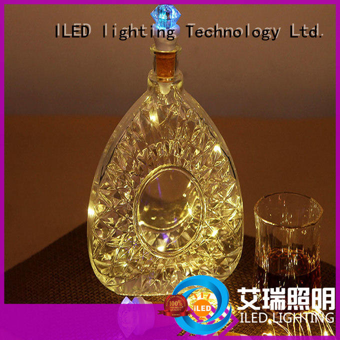 USB Night Light Diamond Shape Bottle Cork Lamp Copper string Flasher