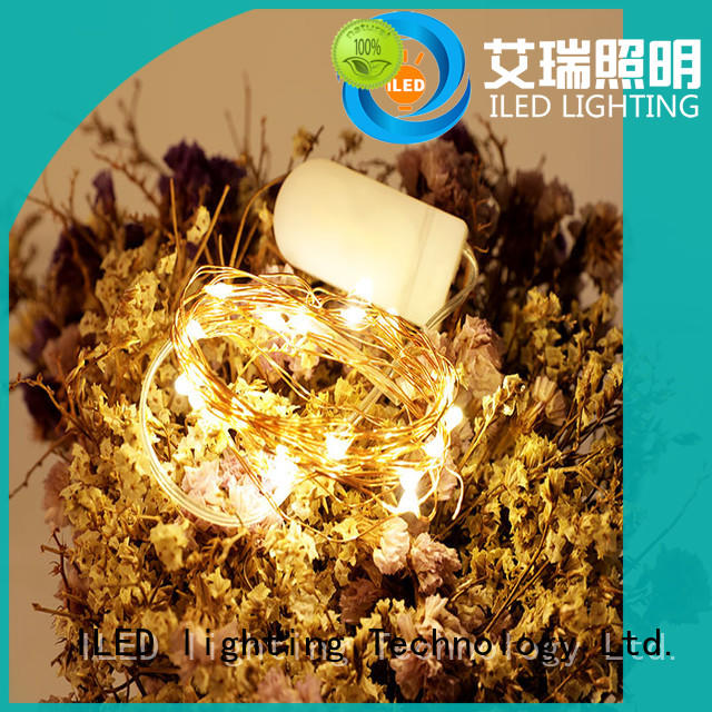 ILED starry battery operated wire lights manufacturer for decoration