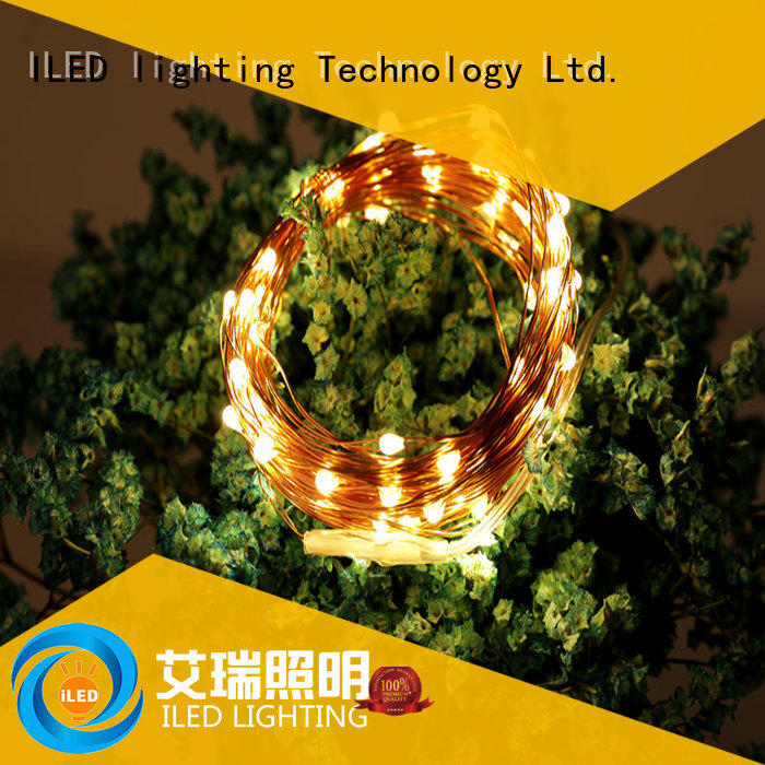 ILED decor battery operated copper string lights lamp for wedding