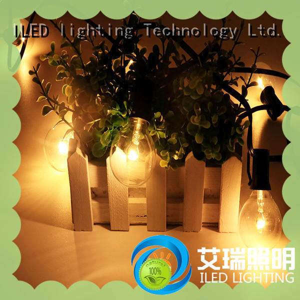ILED white commercial led string lights supplier for outdoor
