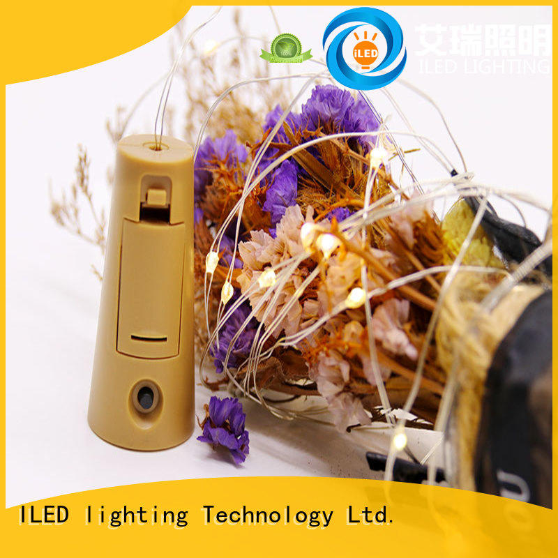 ILED remote battery operated wire lights lamp for party