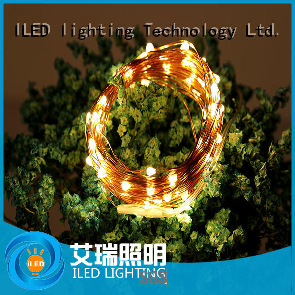 ILED battery operated wire lights personalized for party