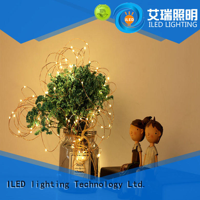 ILED remote battery christmas lights lamp for bistro