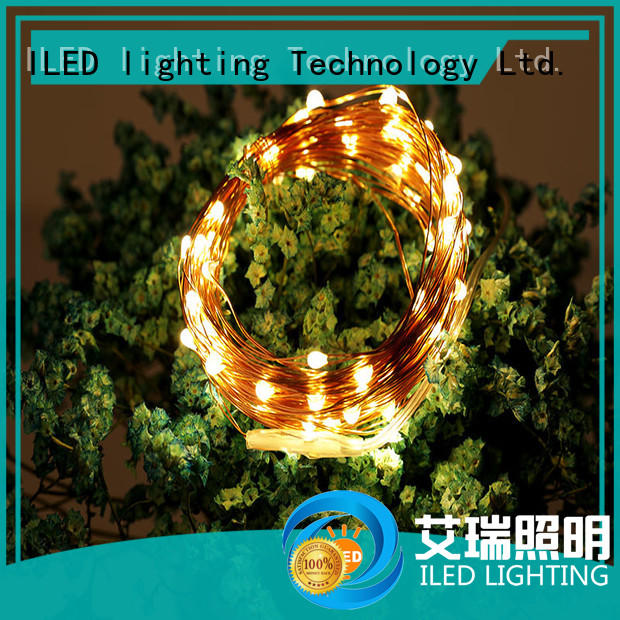 ILED remote battery operated copper string lights for indoor