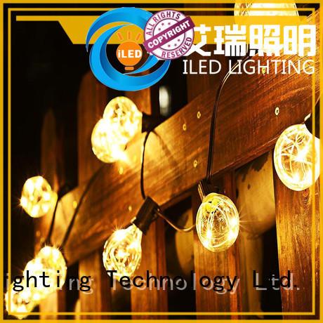 ILED warm led cafe string lights lamp for wedding