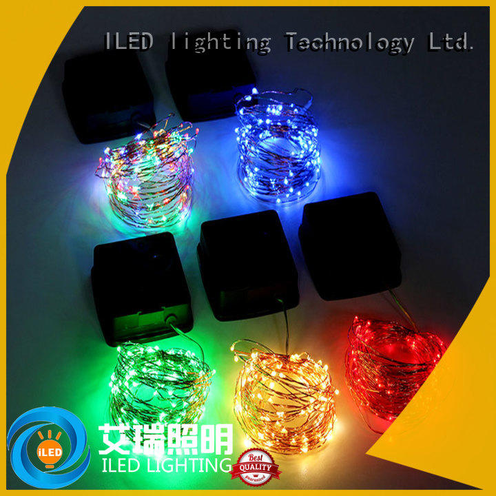 string outdoor copper string lights supplier for christmas ILED