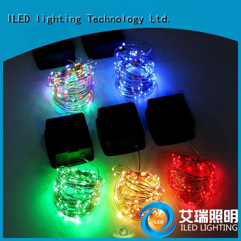 solar solar copper wire string lights copper ILED