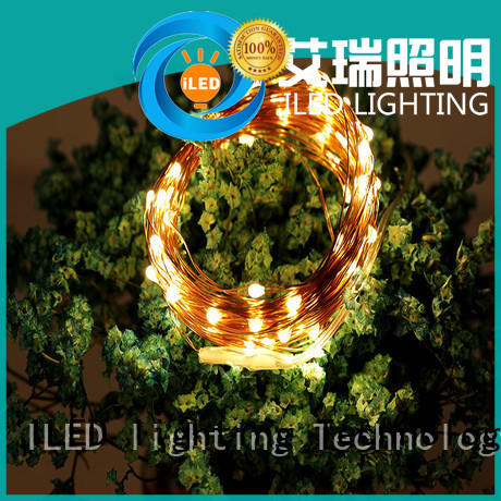 ILED remote battery operated wire lights manufacturer for decoration