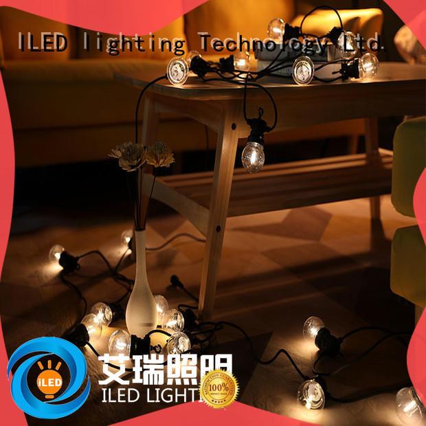 ILED coloured festoon lights design for wedding