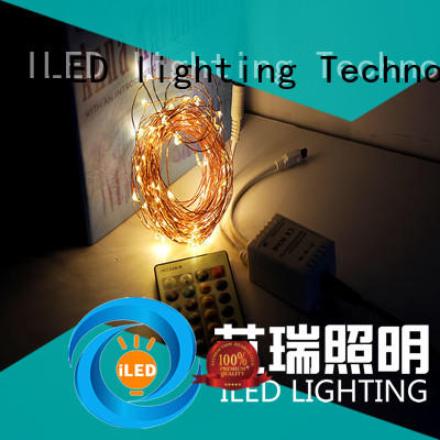 ILED plug in copper wire lights customized for bedroom