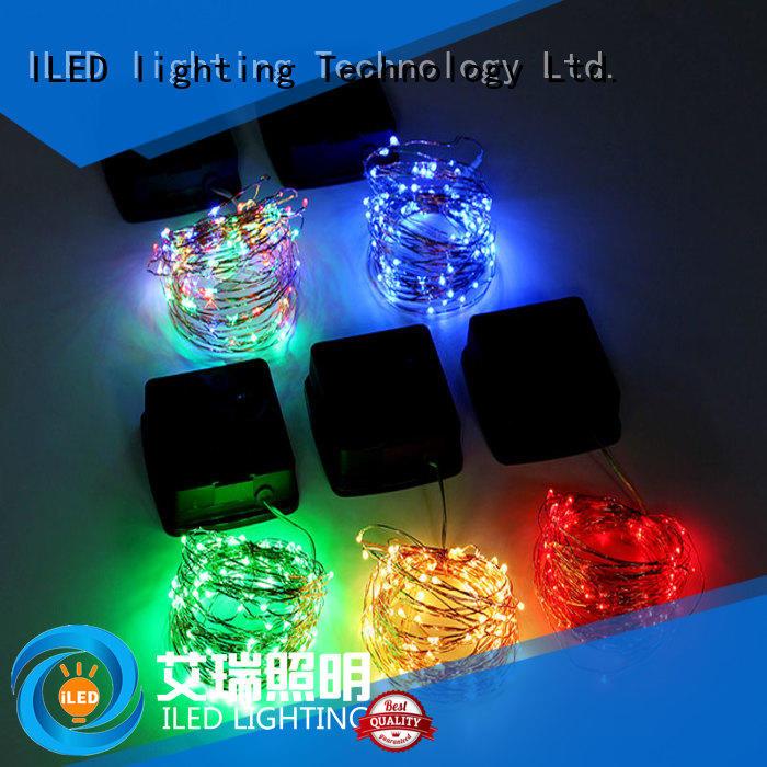 ILED solar copper wire string lights design for patio