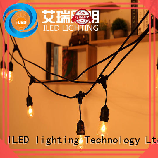 ILED commercial plug in string light design for outdoor