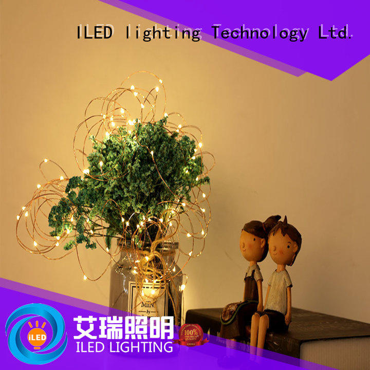 ILED powered battery operated wire lights supplier for bistro