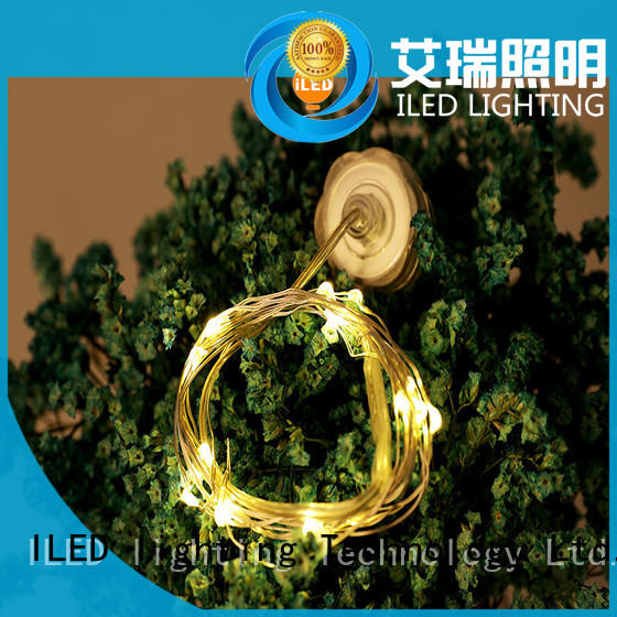waterproof battery operated wire lights supplier for Christmas