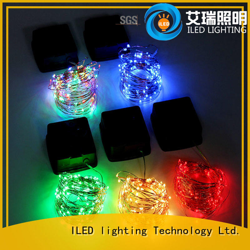ILED warm solar copper string lights design for christmas