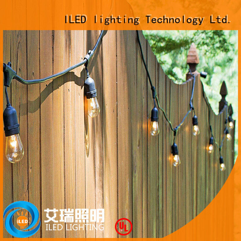 ILED plug in string light design for patio