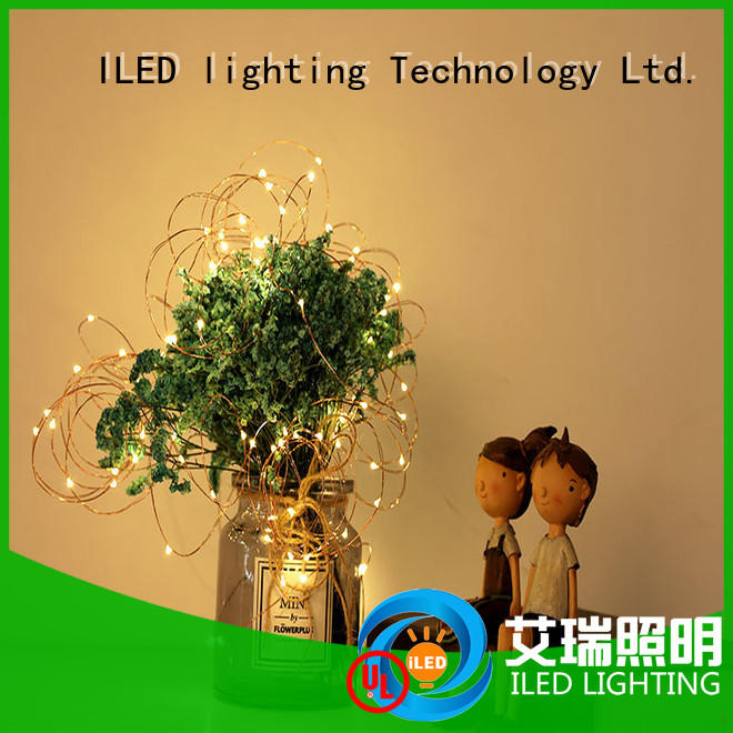 ILED waterproof copper wire lights battery operated manufacturer for decoration