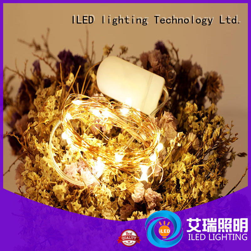 ILED waterproof battery operated wire lights lamp for party