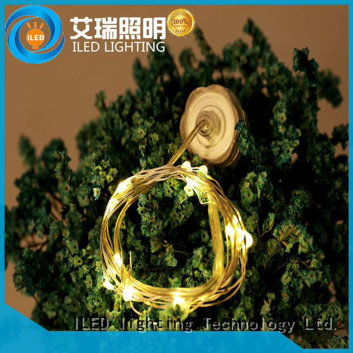 ILED remote copper wire lights battery operated supplier for indoor