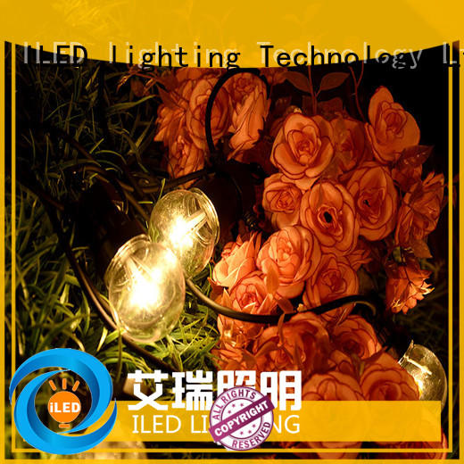ILED commercial string lights manufacturer for outdoor