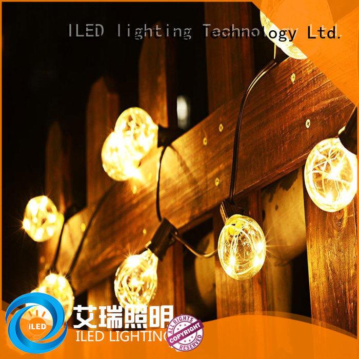 warm festoon lights wedding design for indoor