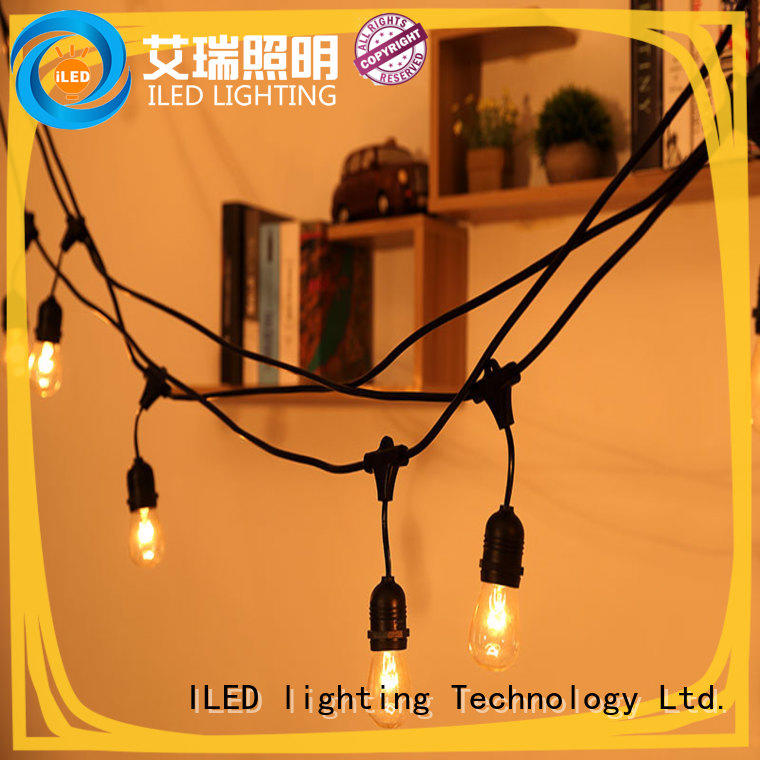 waterproof plug in string light manufacturer for patio