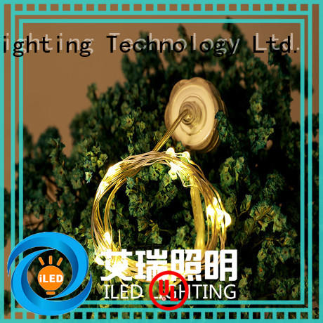ILED waterproof battery powered fairy lights manufacturer for party