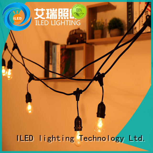 Festoon String Light 48ft Hanging Sockets 110V US Plug festival Garden Outdoor Light