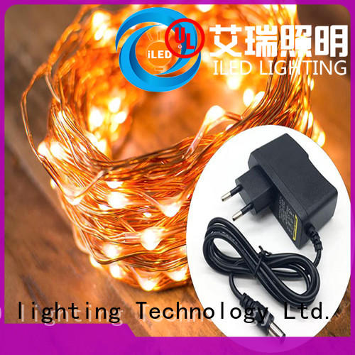 ILED white plug in copper wire lights supplier for weddings
