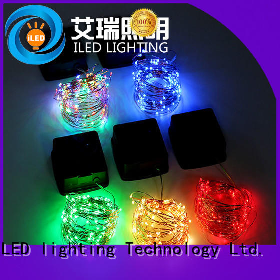 ILED durable solar copper wire string lights manufacturer for household