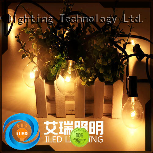 wire led cafe string lights globe for patio ILED