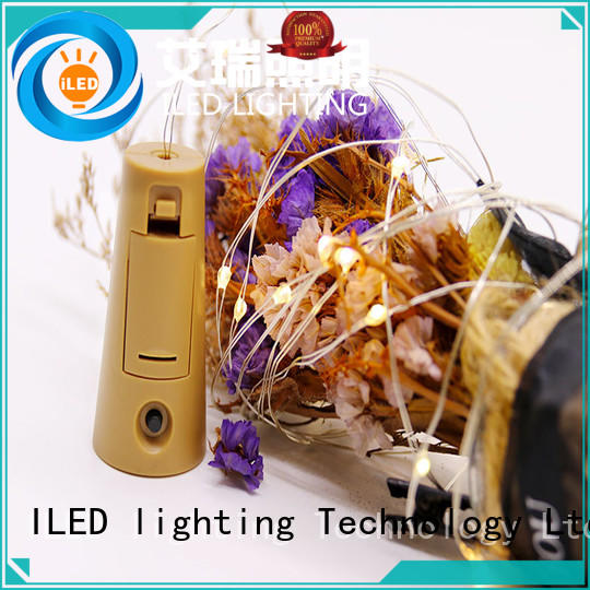 ILED waterproof battery operated fairy lights customized for party