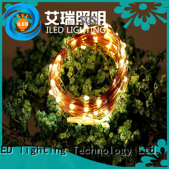 ILED copper wire lights battery operated supplier for decoration