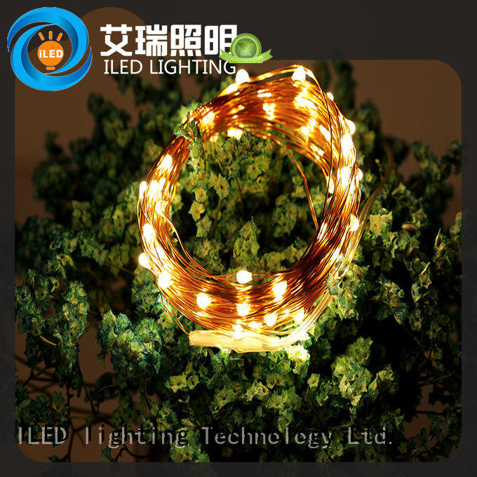 battery string light customized for outdoor ILED