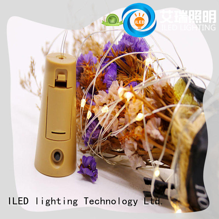 ILED remote battery powered fairy lights manufacturer for party